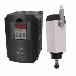 3000W air cooled spindle motor + variable frequency drive(VFD)
