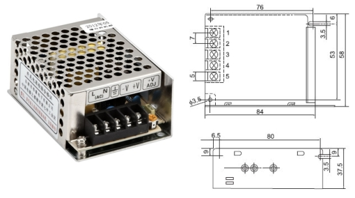 MS25-12 miniature size switching mode power supply