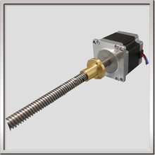Nema17 0.5Nm stepper motor with integrated leadscrew and external nut