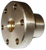 TR12x3 trapezoidal nut, bronze, flanged
